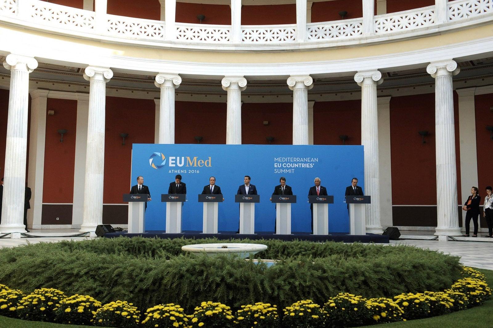 Ζάππειο, Τσίπρας, Σύνοδος Κορυφής 7 Μεσογειακών Χωρών ΕΕ 2016